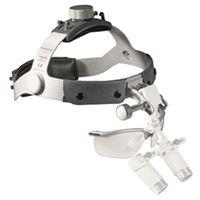 Imagen de Lupas Binocupares Heine HRP 3.5x/420mm c/ I-View (soporte de lupas girable) en Cinta Craneal y Gafas